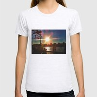 Sunset on the Bank Womens Fitted Tee Ash Grey SMALL