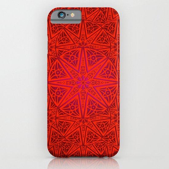rashim red lace mandala iPhone & iPod Case
