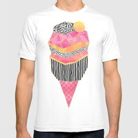 Ice Cream 3 Mens Fitted Tee White SMALL