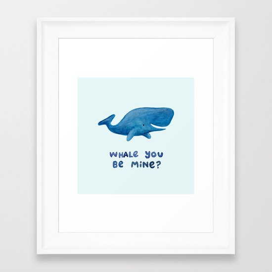 Whale You Be Mine? Framed Art Print