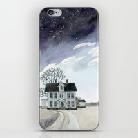 House Under The Starry S… iPhone & iPod Skin