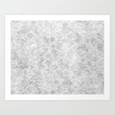 White Lace Art Print
