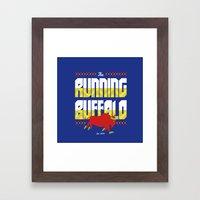 The Running Buffalo Framed Art Print