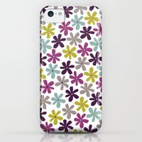 iPhone 5c Cases featuring Allium Ditsy by Rosie Simons
