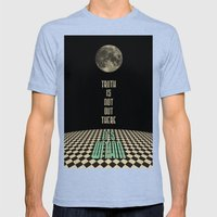 Truth Is Not Out There..… Mens Fitted Tee Tri-Blue SMALL