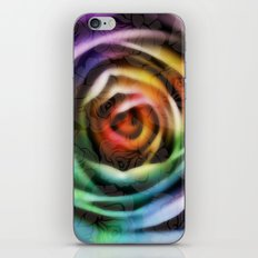 Rainbow Rose iPhone & iPod Skin