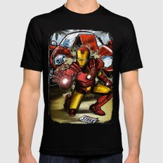 Man of Iron Black SMALL Mens Fitted Tee