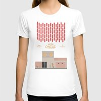 Mon Oncle - Jacques Tati… Womens Fitted Tee White SMALL