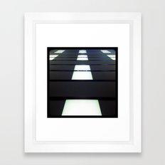 Walking on the ceiling. Framed Art Print
