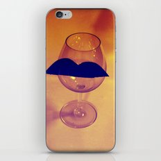 Hipster Wine Glass iPhone & iPod Skin