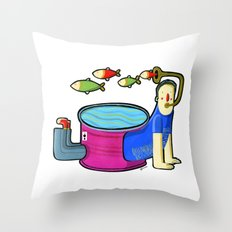 MORO brother D Throw Pillow