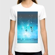 Cute Elf In Blue Womens Fitted Tee White SMALL