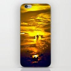 Fire sunset iPhone & iPod Skin