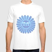 Happy Fish Mens Fitted Tee White SMALL