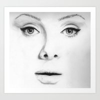 Adele (Face Number 4) Art Print
