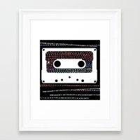 ANALOG - CASSETTE Framed Art Print