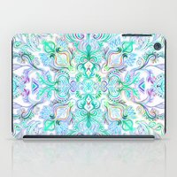 Painted Rainbow Doodles iPad Case