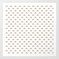 Pixel Rainbow Pattern Art Print
