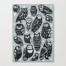 Flock of Owls Canvas Print