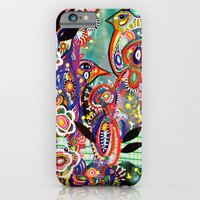 iPhone & iPod Case featuring purple birds by Randi Antonsen