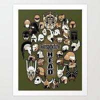 Helmets Of Fandom - Resp… Art Print