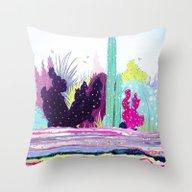 Cacti Watercolour Allsor… Throw Pillow