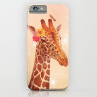 iPhone & iPod Case featuring Giraffe and the stars by TatiAbaurreDesigns