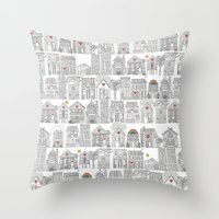pencil weather love Throw Pillow