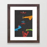 Make Musica Not Guernica Framed Art Print