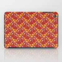 Flowers Red Pattern iPad Case