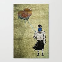 Sub-Zero Girl Canvas Print