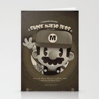 Mario Bros Fan Art Stationery Cards