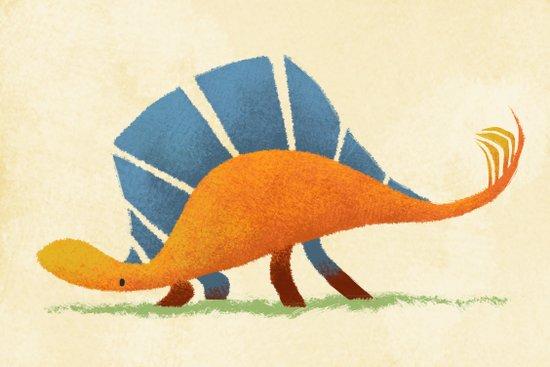 Stegosaurus Art Print