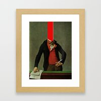 The Red Stripe In The He… Framed Art Print