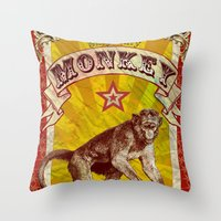 Silly, Silly Monkey Throw Pillow