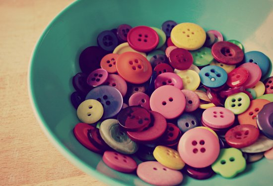 bowl of buttons Art Print