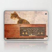 The Cat And The Radio Laptop & iPad Skin