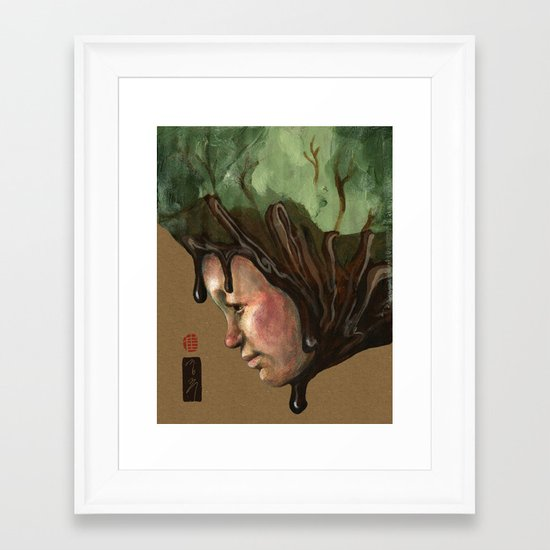 Ice Cream , Nature, and Life Framed Art Print