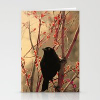 Stationery Card featuring Grackle  by The Strange Days Of Gothicolors