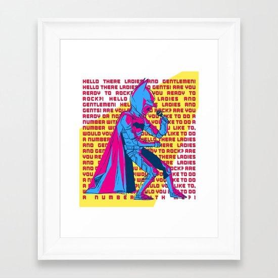 The Dark Knight Rocks (Text Version) Framed Art Print