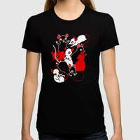 Oh Rats! Womens Fitted Tee Black SMALL