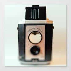 Smile vintage camera brownie reflex Canvas Print