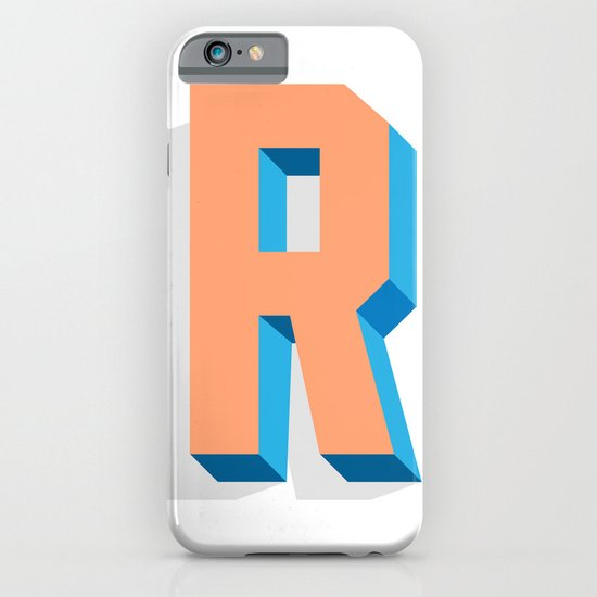Letter R iPhone & iPod Case