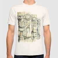 Haida Totems Mens Fitted Tee Natural SMALL