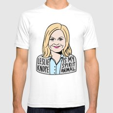 Leslie Knope is my spirit animal Mens Fitted Tee White SMALL