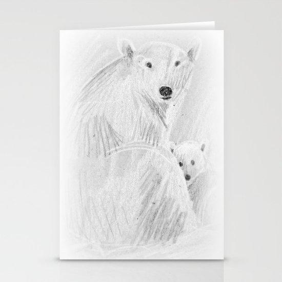 arctic bears Stationery Card