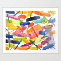 Abstract Brushstrokes Art Print