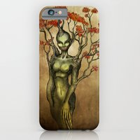 iPhone & iPod Case featuring Crimson Dryad by Alex Kujawa