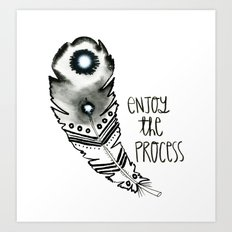 Inky Feather Art Print