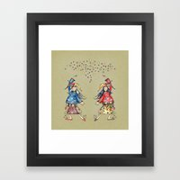Lady Jokers Framed Art Print
